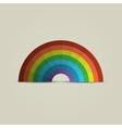 Paper rainbow vector image vector image