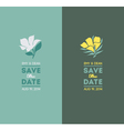 Elegant flowers Wedding graphic set vector image