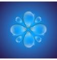 Drop flower vector image