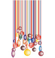Christmas barcode vector image vector image