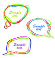 set of abstract speech bubbles vector image
