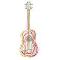 neon guitar vector image