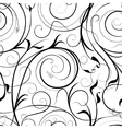 Swirling plant pattern vector image vector image