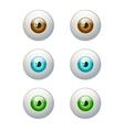 Set of colorful eyes Brown blue green eye vector image