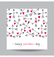 Love Card with Arrows - Wedding Valentines Day vector image vector image