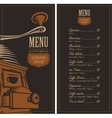menu for a cafe shop vector image