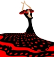 red-black woman and flamenco vector image vector image
