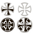 black and white different cross set vector image