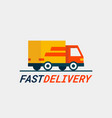 fast delivery service delivery by car or truck vector image