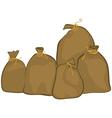 Group of sacks vector image