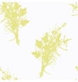 Hand drawn spicy herb bunch silhouette seamless vector image