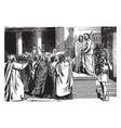 pilate brings jesus before the people vintage vector image