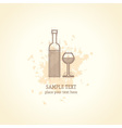 Wine list concept card vector image