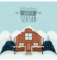 winter season design vector image
