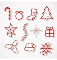 Christmas Stickers vector image vector image