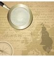 Antique sailor background with old grungy map and vector image vector image