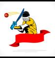 batsmen hit the ball banner design vector image