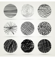 Hand drawn scribble circles template vector image