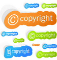 copyright vector image vector image