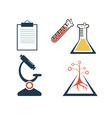 lab icons set vector image