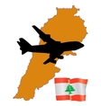 fly me to the Lebanon vector image