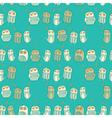 Vintage Owls Pattern vector image vector image
