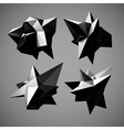 Abstract triangles space low poly vector image