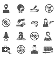 Allergy Icons Black vector image