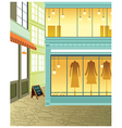 Fashion Boutique Streetview vector image