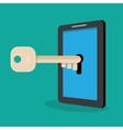 Hacker hacking smartphone vector image