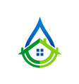 house water supply realty logo vector image