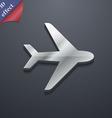 Plane icon symbol 3D style Trendy modern design vector image