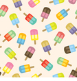 Colorful Popsicles Seamless Pattern vector image