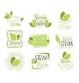 Stevia Natural Food Sweetener Additive And Sugar vector image