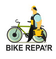 bicycle repair vector image