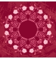 Floral Circle Ornament vector image