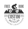 freeride custom bicycles extreme challenge vintage vector image