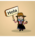 Hello from Uruguay people vector image vector image