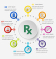 infographic template with pharmacy icons vector image vector image