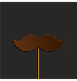 mustache party background Eps10 vector image vector image