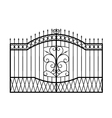 forged gate isolated on white background vector image