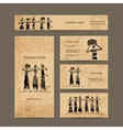 Sketch of egypt women with jugs Business cards vector image