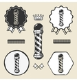 Barber pole vintage symbol emblem label collection vector image