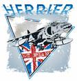 jet plane herrier vector image vector image