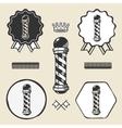 Barber pole vintage symbol emblem label collection vector image