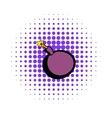 Bomb icon comics style vector image