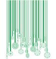 Christmas green barcode vector image