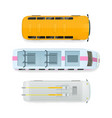 city transport top view flat vector image