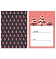 Collection of 2 Christmas card templates vector image