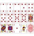 Poker cards diamond set four color classic design vector image